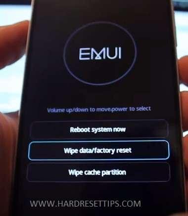 Huawel wipe data factory reset