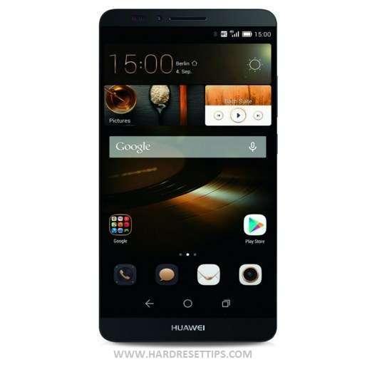 Huawei Mate 7 hard reset tips