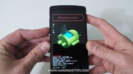LG Nexus Recovery mode