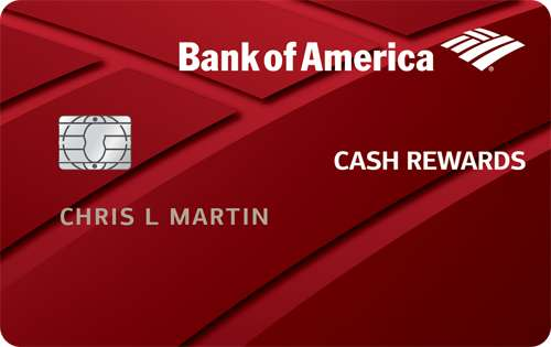 Bank Of America Customized Cash Rewards Credit Card For 18 years
